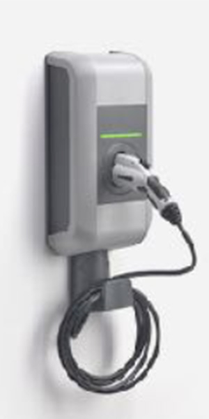 ev charging with retractable cable